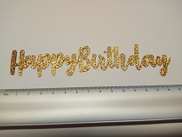 Happy Birthday,For Cake topper, Glitter card Pack of 10